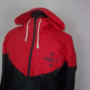 Nike Windbreaker Black Red Men's M Full Zip